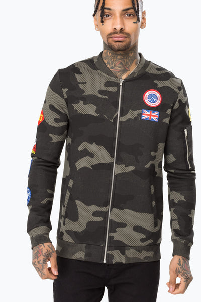 Hype Khaki Camo Patches Men's Bomber Jacket