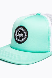 Hype Mint/White Crest Trucker Hat