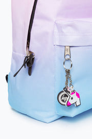Hype Pink/Blue Fade Charm Backpack