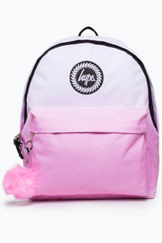 Hype White/Pink Speckle Fade Pom Backpack