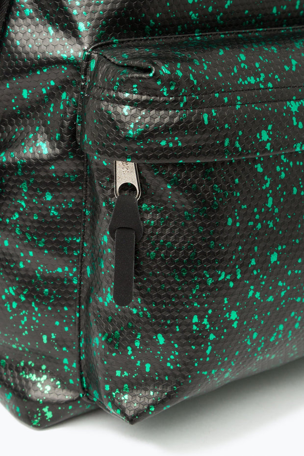 Hype Black/Green Flakes Backpack