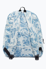 Hype Blue Acid Wash Denim Backpack
