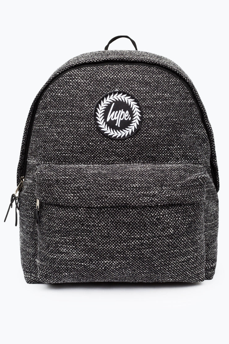 Hype Grey Textured Wool Backpack