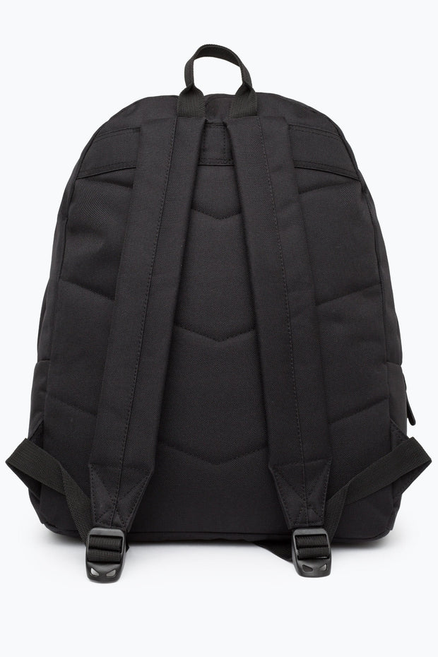 Hype Black/Grey Textured Wool Pocket Backpack