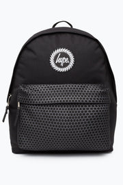 Hype Black Hexagon Pocket Backpack