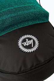 Hype Black/Green Velour Pocket Backpack