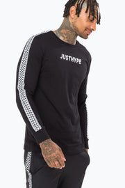 Hype Black Checker Tape Men's L/S T-Shirt