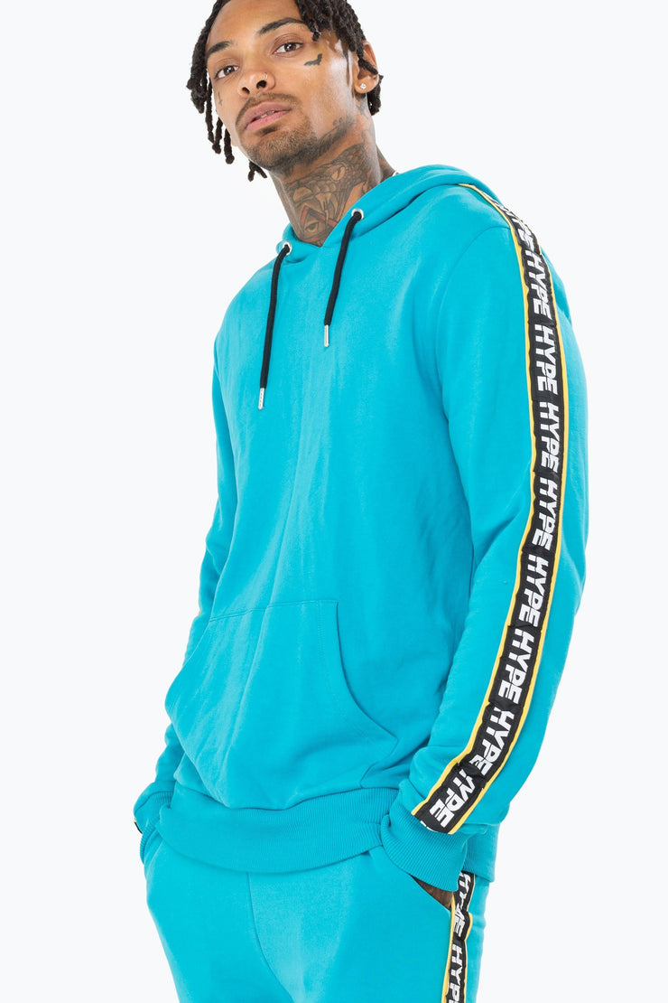 Hype Teal Warning Men's Pullover Hoodie