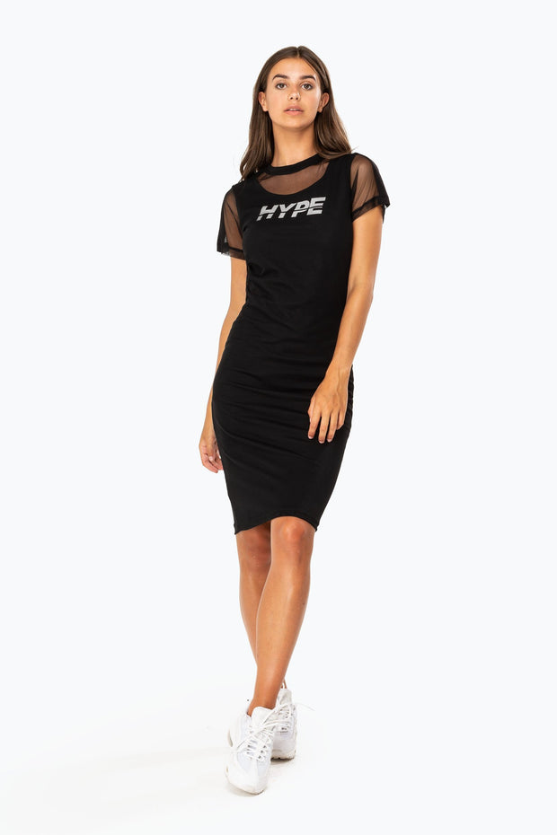 Hype Black Mesh Sports Women's Dress