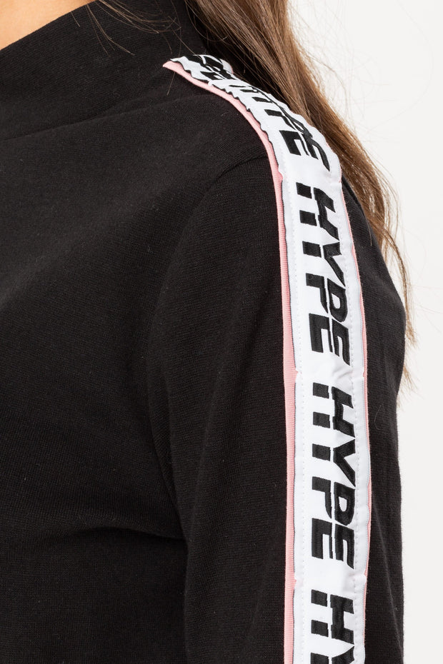 Hype Black/White Ormerod Women's Crewneck