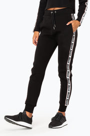 Hype Black/White Ormerod Women's Joggers