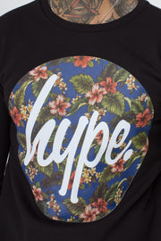 Hype Flower Circle Men's Crewneck
