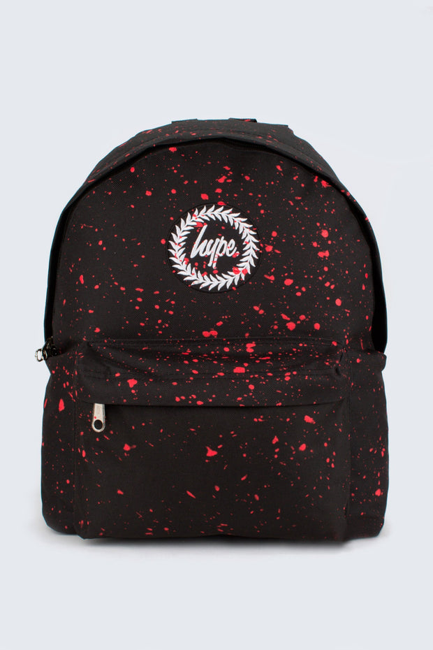 Hype Black With Red Speckle Backpack