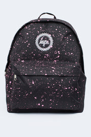 Hype Black With Pink Speckle Backpack