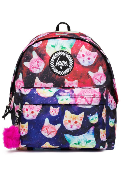 Hype Multi Cosmo Cat Pom Pom Backpack