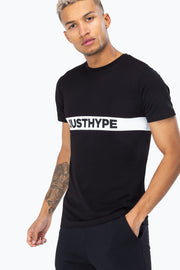 Hype Black/White Just Hype Stripe Men's T-Shirt