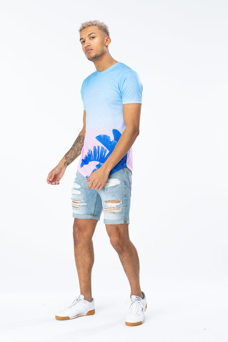 Hype Blue/Multi Pastel Palm Fade Men's T-Shirt