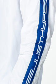 Hype White/Blue Warning Tape Men's Crewneck