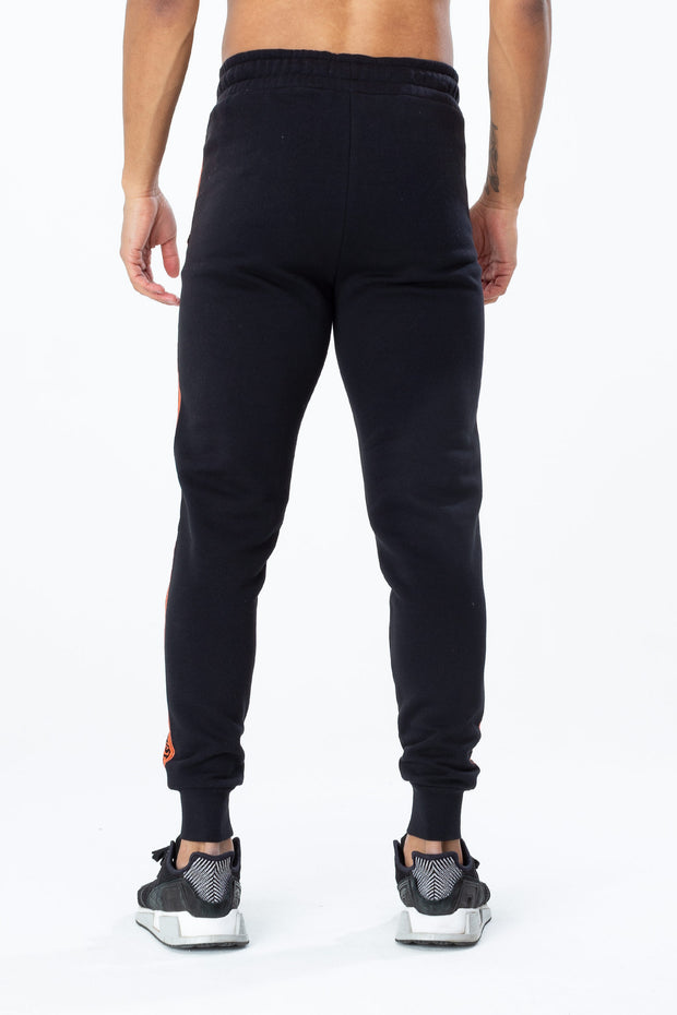 Hype Black/Orange Warning Tape Men's Joggers