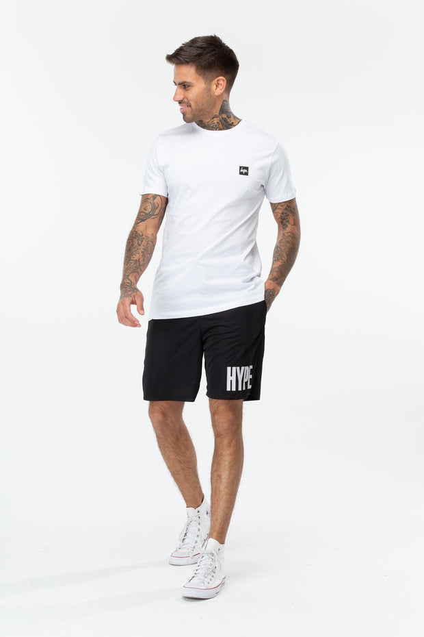 Hype Black/White Retro Sports Block Men's Shorts