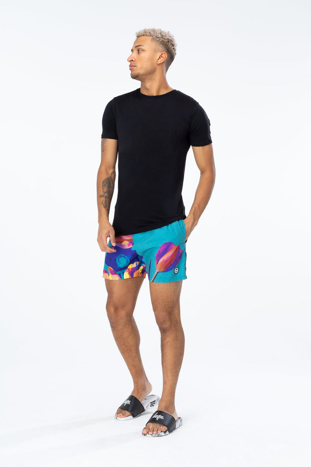 Hype Multi Earth Flower Men's Swim Shorts