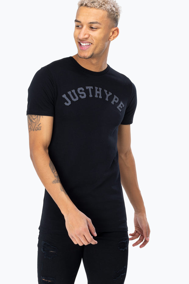 Hype Black/Grey Just Hype College Men's T-Shirt