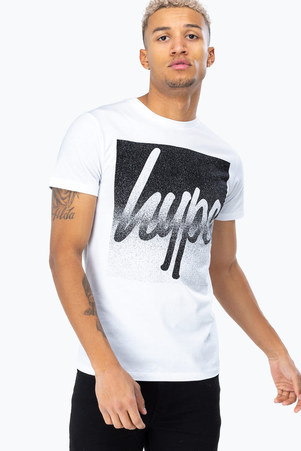 Hype White Speckle Box Script Men's T-Shirt