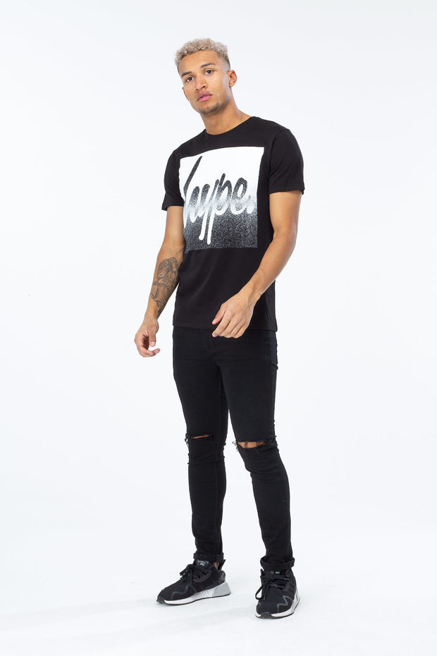 Hype Black Speckle Box Script Men's T-Shirt