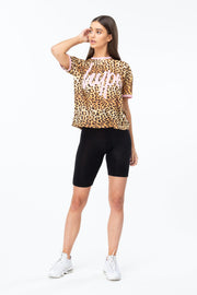 Hype Multi Leopard Script Men's Boxy T-Shirt