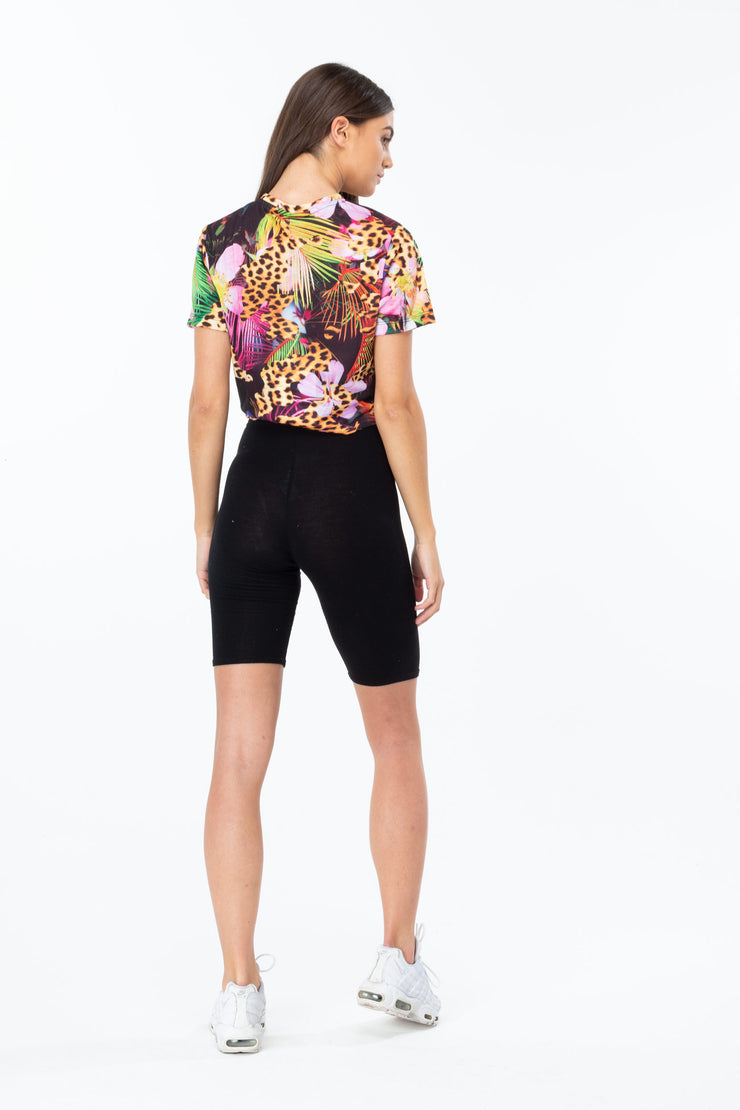 Hype Multi Jungle Cat Women's Crop T-Shirt
