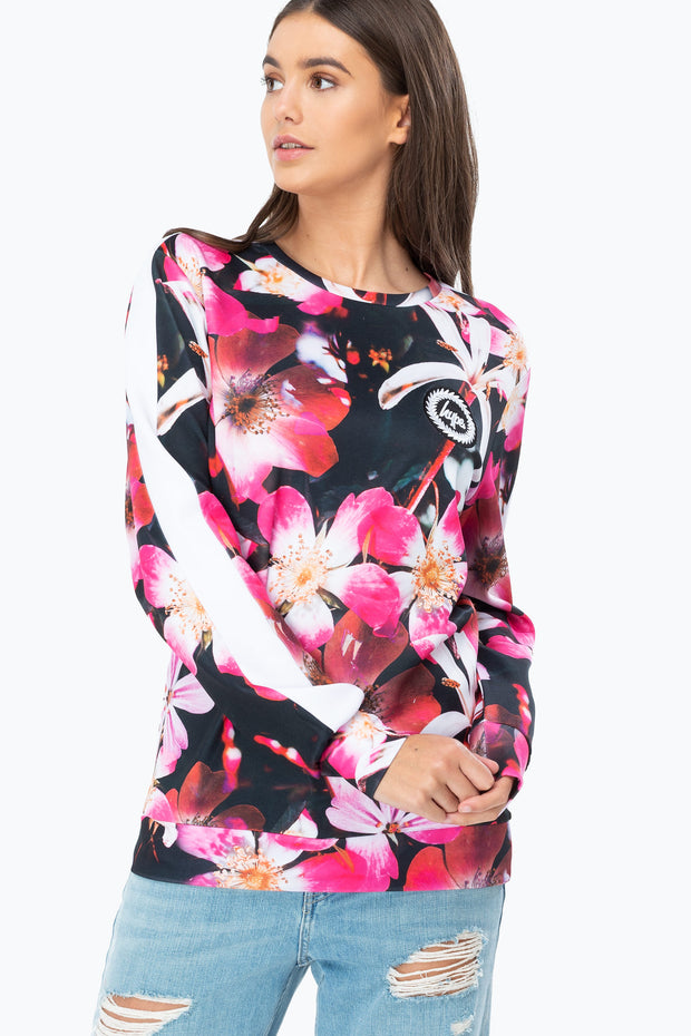 Hype Multi These Flowers Women's Crewneck