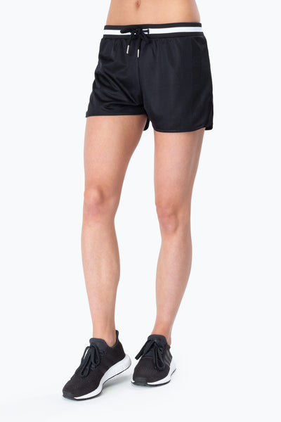 Hype Black/White Retro Sport Women's Running Shorts