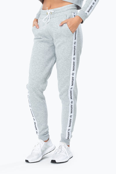 Hype Grey/White Just Hype Tape Women's Joggers