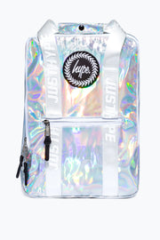Hype Silver Holographic Boxy Backpack