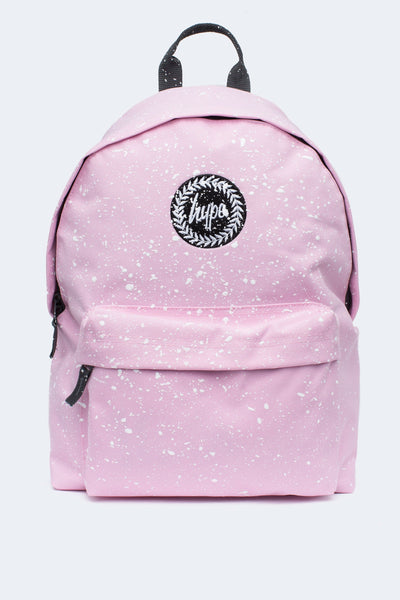 Hype Baby Pink With White Speckle Backpack