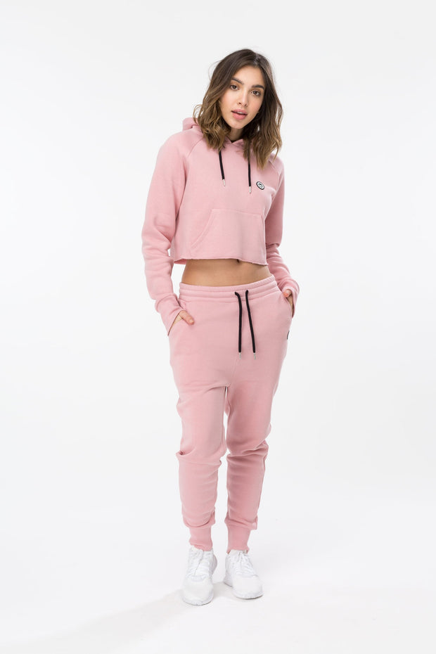 Hype Small Crest Pink/Black Women's Joggers
