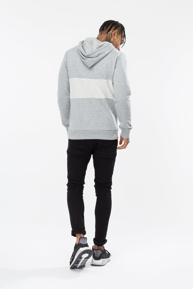 Hype Grey Loopback Crest Men's Pullover Hoodie