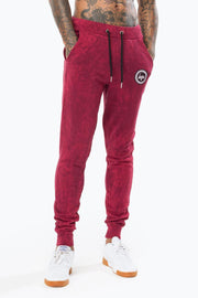 Hype Burgundy Acid Crest Men's Joggers