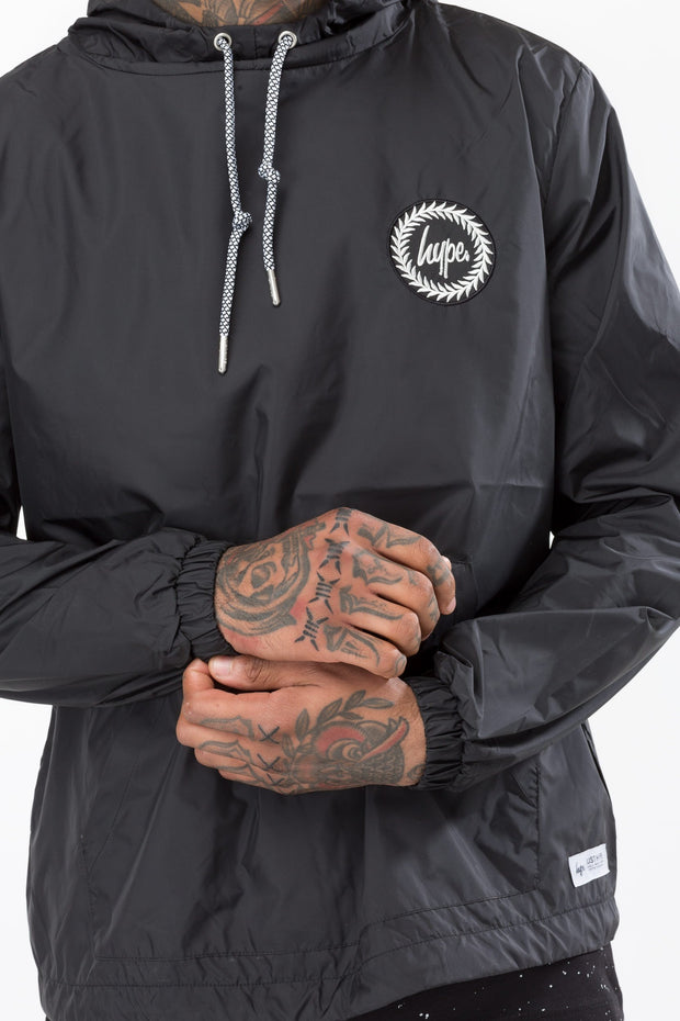 Hype Black Crest Men's Fishtail Jacket