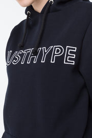 Hype Navy Embroidered Women's Pullover Hoodie