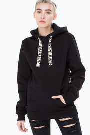 Hype Black Wide String Women's Pullover Hoodie