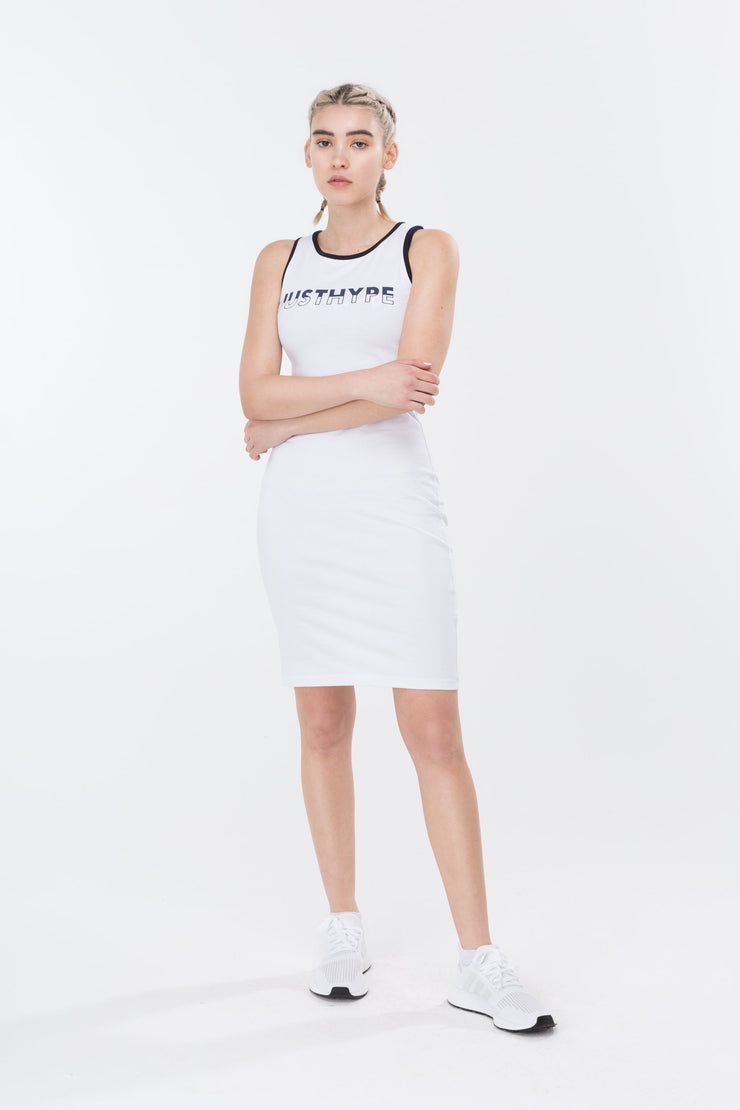 Hype White Split Logo Women's Sports Dress