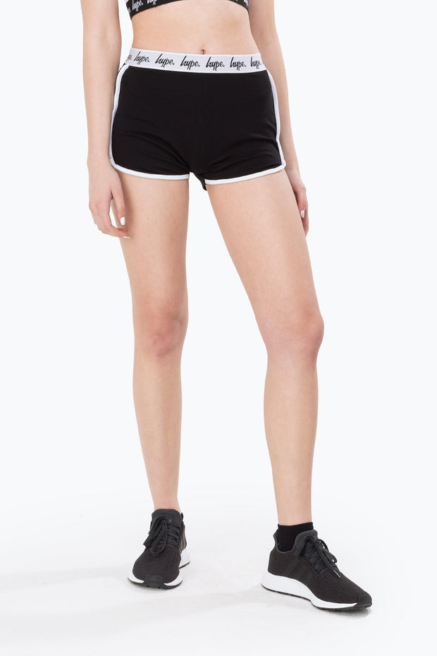Hype Black Mono Running Women's Shorts