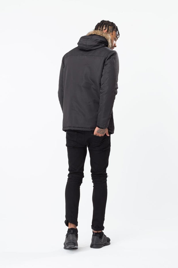Hype Black Classic Men's Parka Jacket