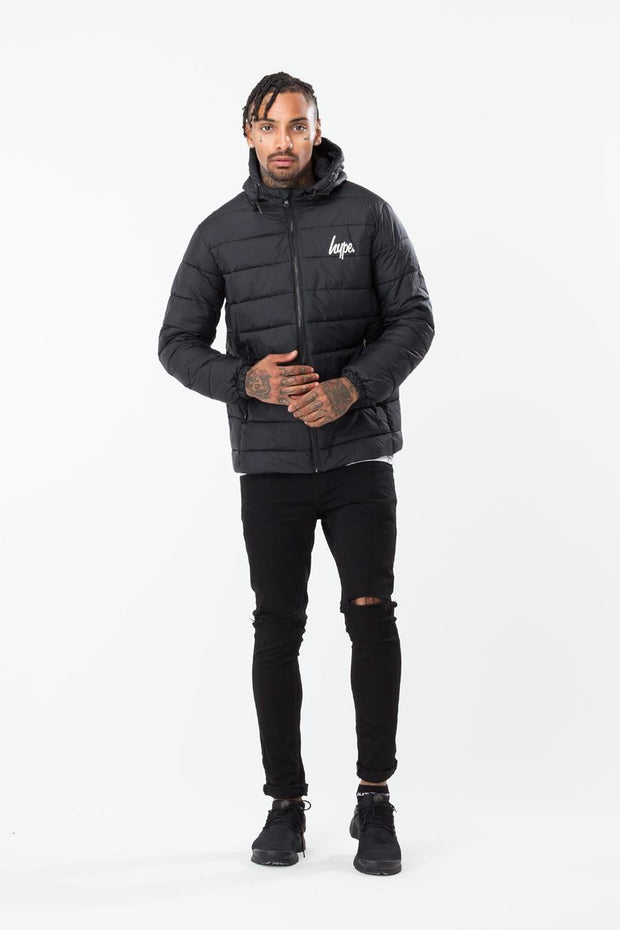 Hype Black Core Men's Puffa Jacket