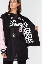 Hype Disney Black Dalmatians Women's Varsity Jacket
