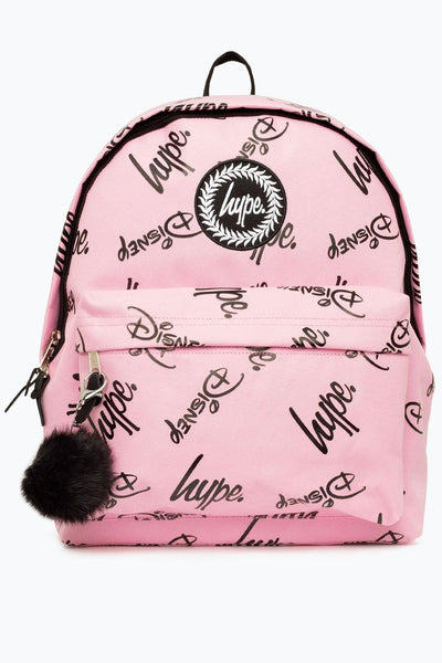 Hype Disney Pink Script Pom Backpack