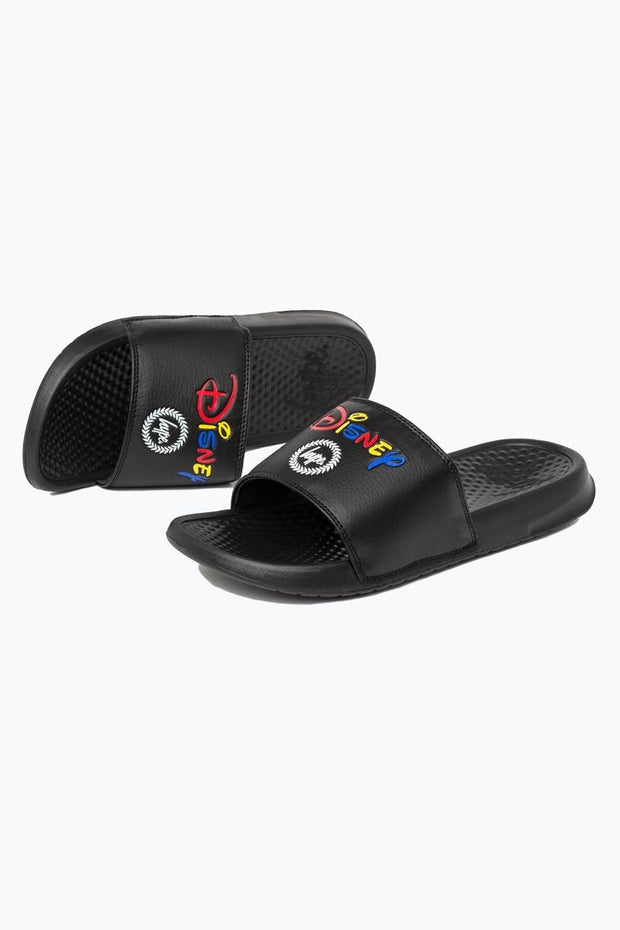 Hype Disney Black Lockup Sliders