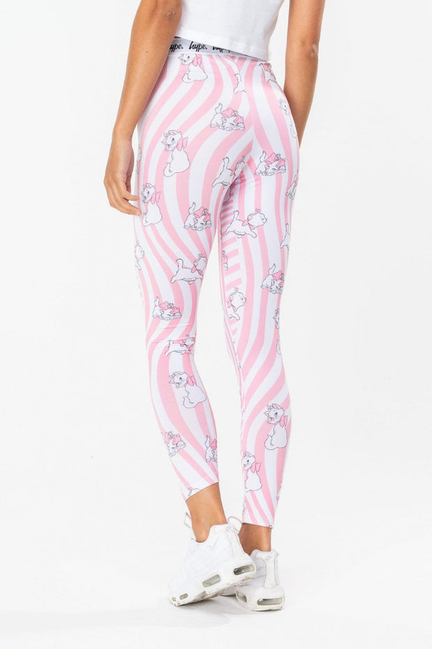 Hype Disney Pink Marie Warp Women's Leggings