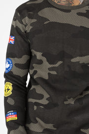 Hype Khaki Camo Patches Men's Crewneck